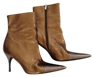 Claudia Ciuti Two Tone Leather Bronze Boots
