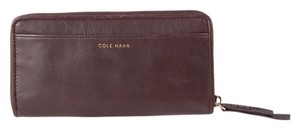Cole Haan * Cole Haan Weave Large Brown Continental Wallet