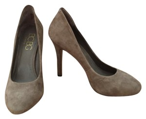 BCBG Paris Suede Stiletto Leather Taupe Pumps