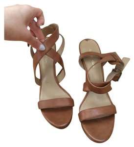 Via Spiga Leather Strappy Tan Sandals