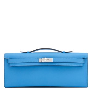 Hermès Kelly Cut Paradise Kelly Pochette Jige Blue Clutch