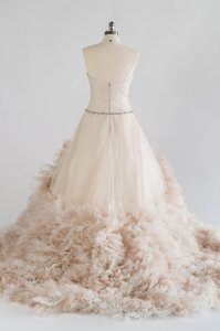 Watters Oatmeal Ivory Tulle Wtoo Allegra Formal Wedding Dress Size 8 (M)