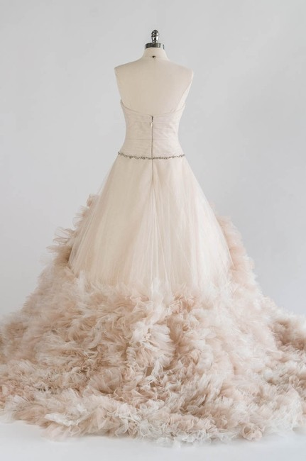 Item - Oatmeal Ivory Tulle Allegra Formal Wedding Dress Size 8 (M)
