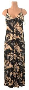 Black/Beige Maxi Dress by Cristina Love