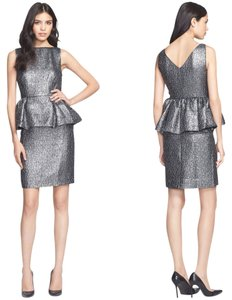 Kate Spade Metallic Peplum Party Dress