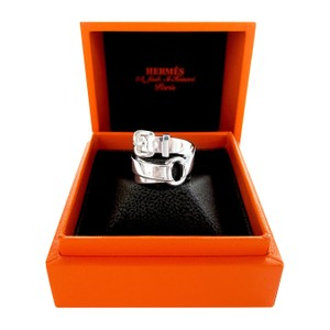 Hermès Below Retail Hermes Debridee Solid Silver Ring GM Size 54 or 6.5 Statement Ring