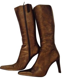 Donald J. Pliner Metallic Tall Heel Bronze Boots