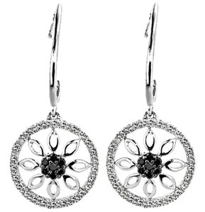 ABC Jewelry Black and White Diamond dangles
