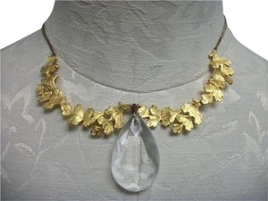 Citrine by the Stones Citrine By The Stones Gold Plated Crystal Pendant Necklace Chain Flower