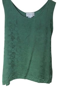 Casual Corner Silk Top green