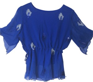 Other Silk Top blue