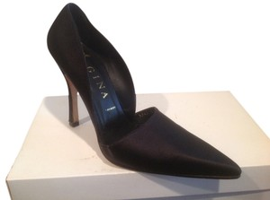 Gina of London U.k. Size 6.5 Harrod's $20 OFF Black satin leather lining leather sole evening Pumps