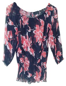 INC International Concepts Silk Top black and red