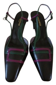 Emilio Pucci No Box Brown with Pink and green accent Pumps