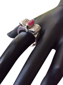 Other 14k Ruby And Diamonds Ribbon Designed Ring