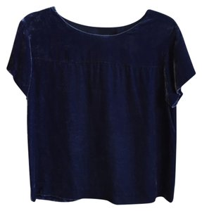 J.Crew Velvet Tee T-shirt Top Navy