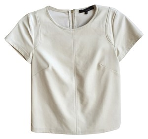Olivaceous Faux Leather Top White
