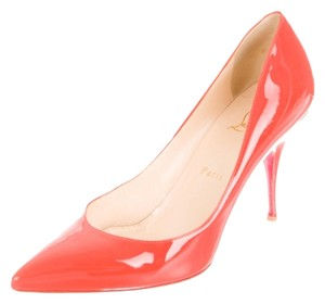 Christian Louboutin Neon Orange Orange Red Red Sole Pointed Toe Stiletto Pigalle So Kate New 40 10 Patent Patent Leather Orange, Neon Pumps