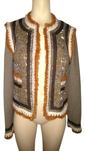 Tory Burch Quincy Vintage Style Fall Winter Brown Jacket