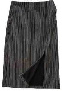 Mandee Sexy Stretch Pinstripe Spring Summer Skirt Black and White