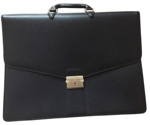 Salvatore Ferragamo Briefcase Leather Classic Men Classic Laptop Bag