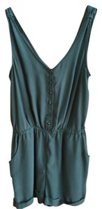 Kimchi Blue Urban Outfitters Short Silver Button Tank Dress