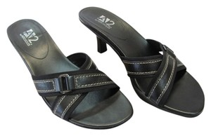 Aerosoles Size 8.50 Leather Black Sandals