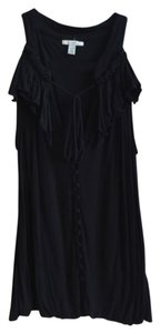Bordeaux Anthropologie Modal Jersey Top Black