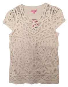 Lilly Pulitzer Top Cameo white