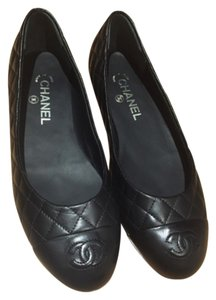 Chanel Quilted Classic Blac Flats
