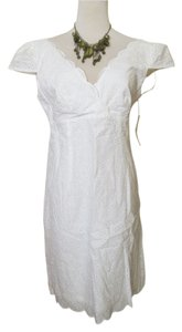 Laundry by Shelli Segal short dress White Eyelet Scalloped V-neck A-line Empire Waist on Tradesy