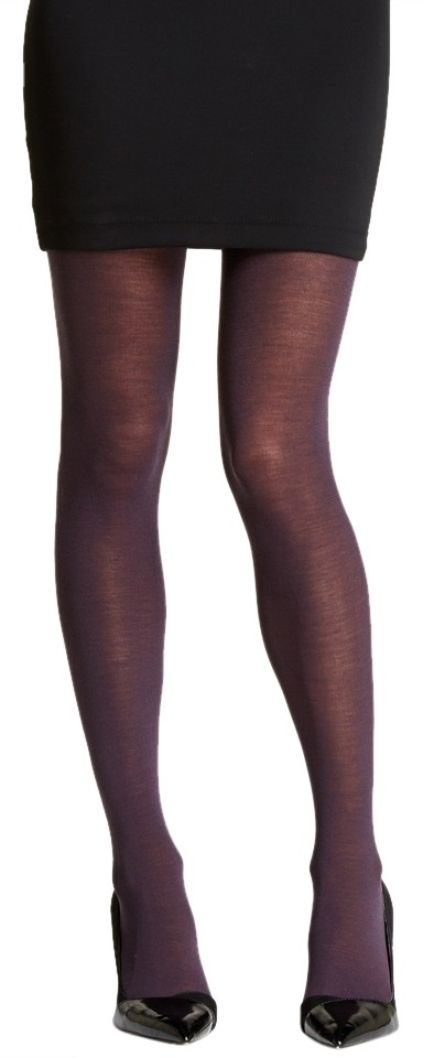 268ef70e993 French Curve NEW! Cashmere Blend Plum Tights - S M ...