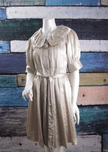 Anthropologie short dress Pearl Elevenses Overcoat Beige Silk Cotton on Tradesy