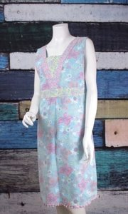 Hanna Andersson short dress Blue, Pink Womens Floral Ruffle Hem Easter Shift on Tradesy
