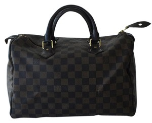 Louis Vuitton Speedy 30 Satchel in Damier ebene