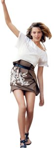 Maiyet Wrap Belt Leather Gold Embroidery Luxury Line Barneys High Waist Daria Werbowy Boutique Fashion Skirt Caramel