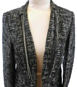 Cache Silver and Black blended color Blazer