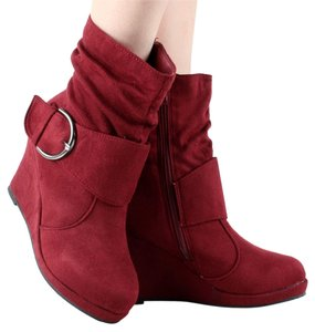 Wedges Ankle Taupe Suede/Tan Suede/Brown Suede/Burgundy Suede Boots