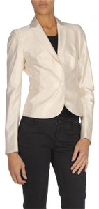 CoSTUME NATIONAL Silk Handstiched Ivory Blazer