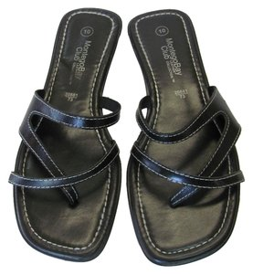Montego Bay Club Size 10.00 M (usa) Leather Black Sandals