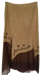 Other Maxi Skirt Tan and Brown