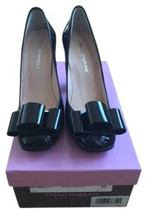 Carlo Pazolini Italian Genuine Timeless High Heels Black Patent Leather Pumps