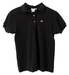 Lacoste Cotton Polo Top Black