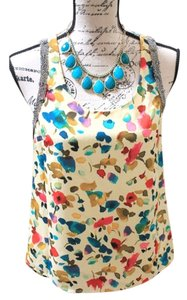 mmcouture Beaded Bead Trim Top multi watercolor