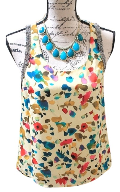 Preload https://item1.tradesy.com/images/multi-watercolor-beaded-trim-blouse-size-4-s-1223445-0-0.jpg?width=400&height=650
