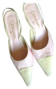 Chanel Cream toes with pastel pink. Pumps