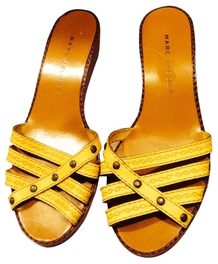 Marc Jacobs Yellow/Tan Mules