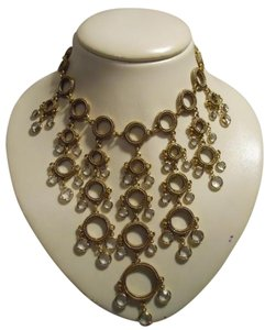 Other crystal detail statement necklace