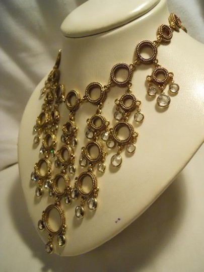 Other crystal detail statement necklace Image 3