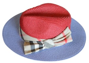 Burberry $595 new Burberry London Hand Made Straw Hat with Bow Trim $49 only!